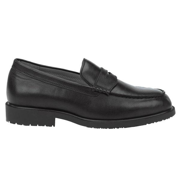 SR Max SRM3010 Burlington Men's Black Soft Toe Non-Slip Penny Loafer Dress Shoe Main Image 1