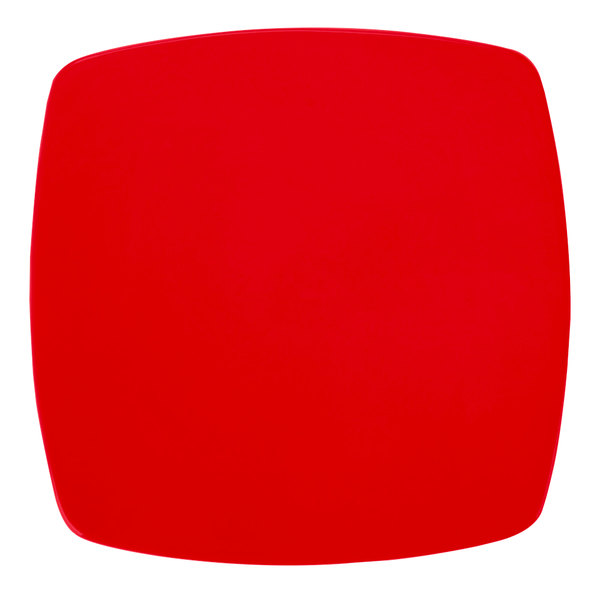 """CAC R-FS8R Clinton Color 8 7/8"""" Red Square Flat Plate - 24/Case"""