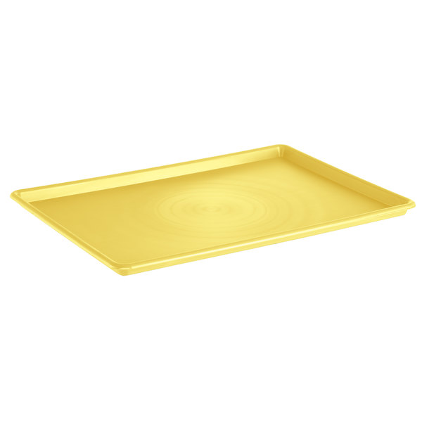 "Channel P1826-Y 18"" x 26"" Yellow Plastic Platter - 12/Pack Main Image 1"