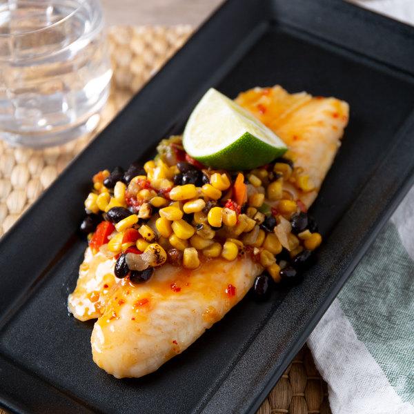 Linton's Seafood 8 oz. Flounder Fillet - 2/Case