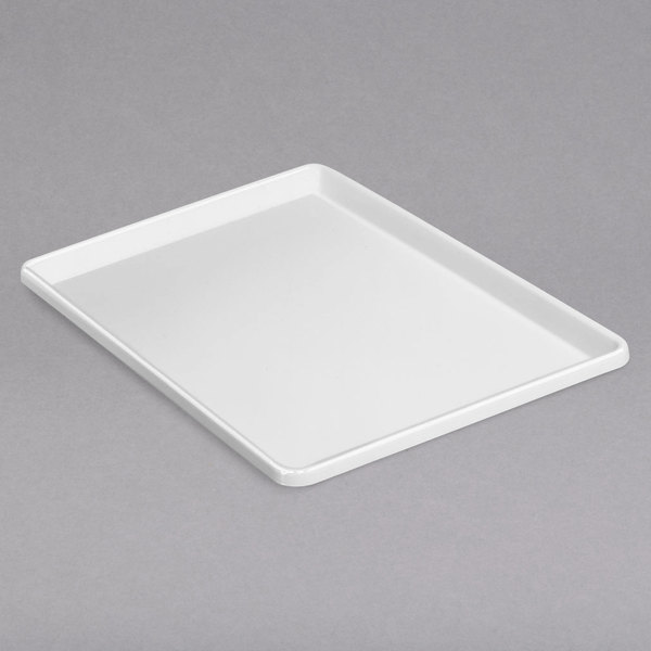 "Channel P1218-W 12 1/2"" x 18"" White Plastic Platter - 12/Pack"