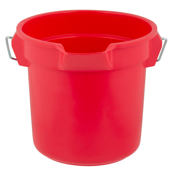 Rubbermaid FG261400RED BRUTE 14 Qt. Red Round Bucket