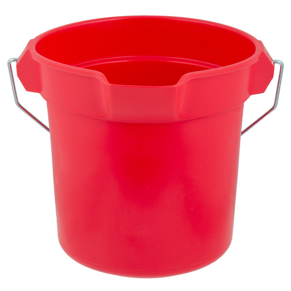 Rubbermaid FG296300RED BRUTE 10 Qt  Red Round Bucket