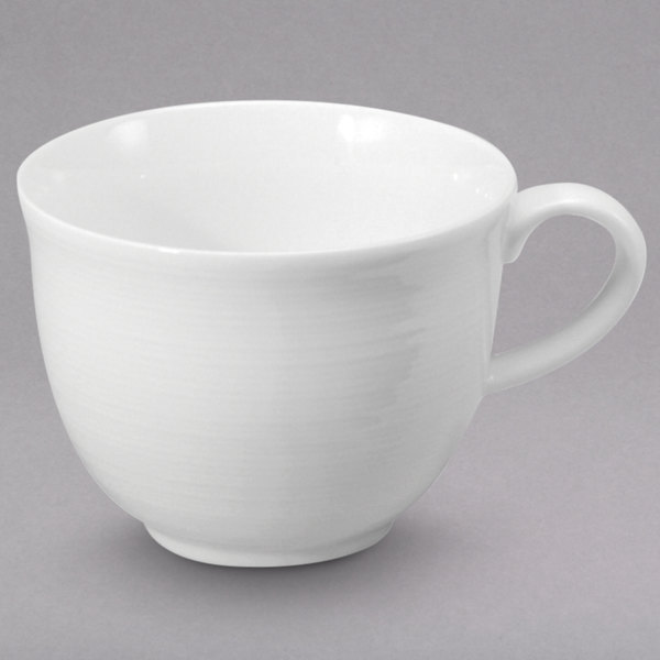 Oneida R4570000525 Botticelli 3.5 oz. Bright White Porcelain A.D. Cup - 36/Case