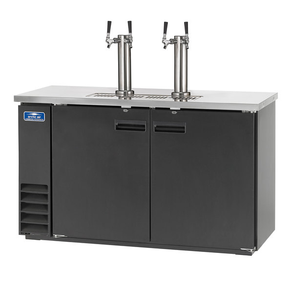 Arctic Air ADD60R-2 Black 2 Double Tap Kegerator Beer Dispenser - (2) 1/2 Keg Capacity Main Image 1