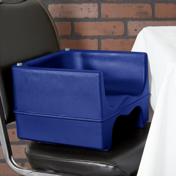 Cambro 200BC186 Navy Blue Plastic Booster Seat - Dual Seat