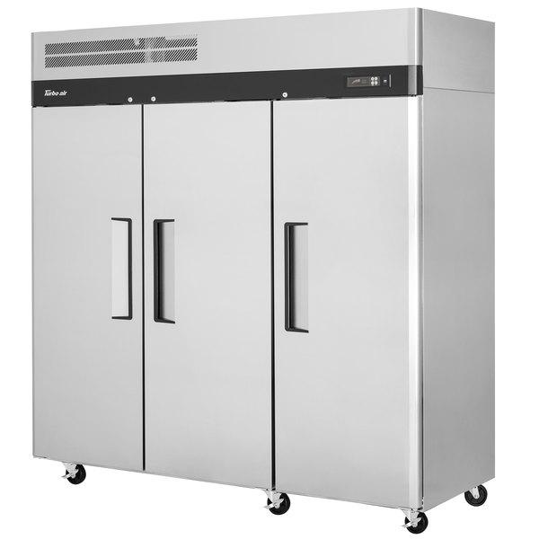 "Turbo Air M3F72-3-N M3 Series 78"" Solid Door Reach In Freezer Main Image 1"
