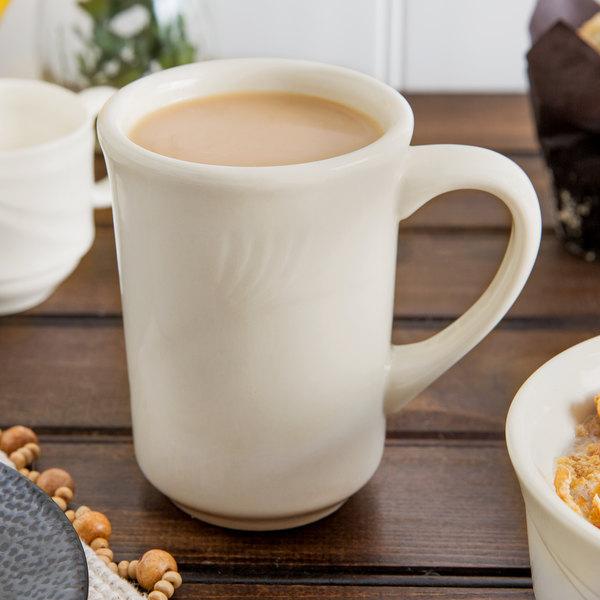China Mug Cream White 8-1//2 oz.