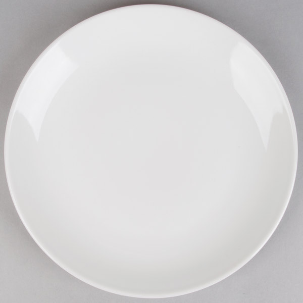 12 inch Coupe Bright White Round Porcelain Plate  - 12/Case