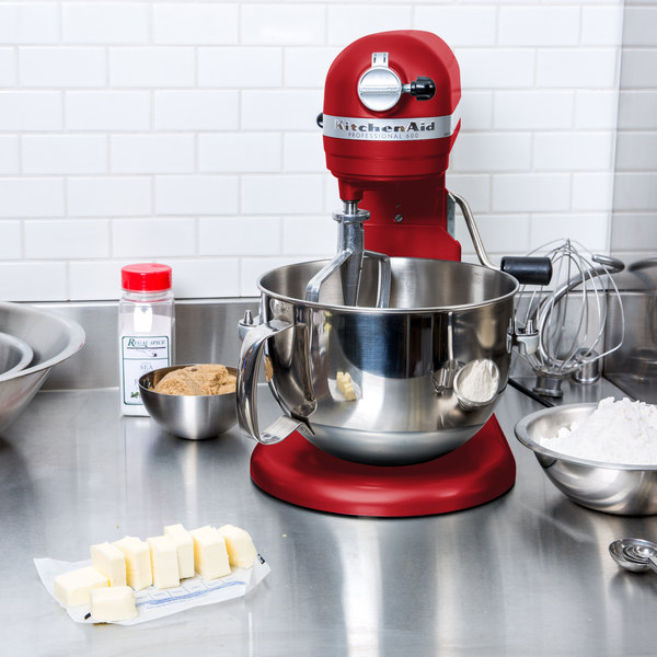 Incroyable KitchenAid KP26M1XER Empire Red Professional 600 Series 6 Qt. Countertop  Mixer