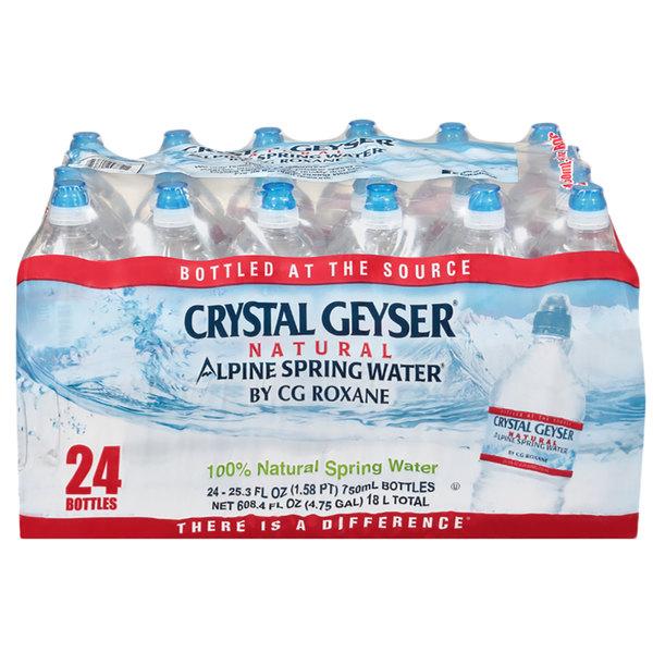 "Crystal Geyser ""Sport Cap"" 750 mL Natural Spring Water - 24/Case Main Image 1"