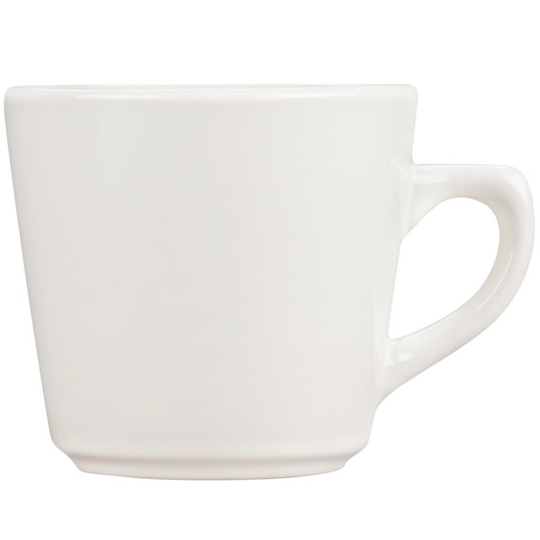 Core 7 oz. Ivory (American White) Rolled Edge Tall China Cup - 36/Case