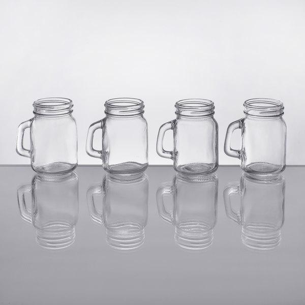 Acopa 475 Oz Mini Mason Jar With Handle 4case