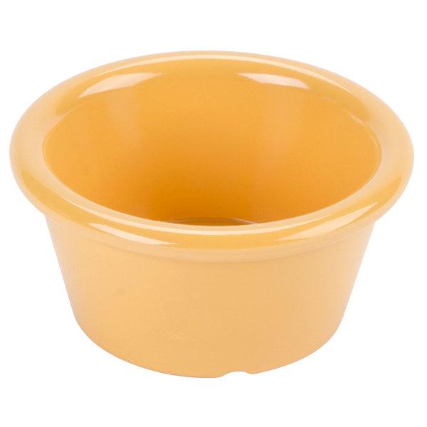 GET S-620-TY Diamond Mardi Gras 2 oz. Tropical Yellow Melamine Ramekin - 48/Case