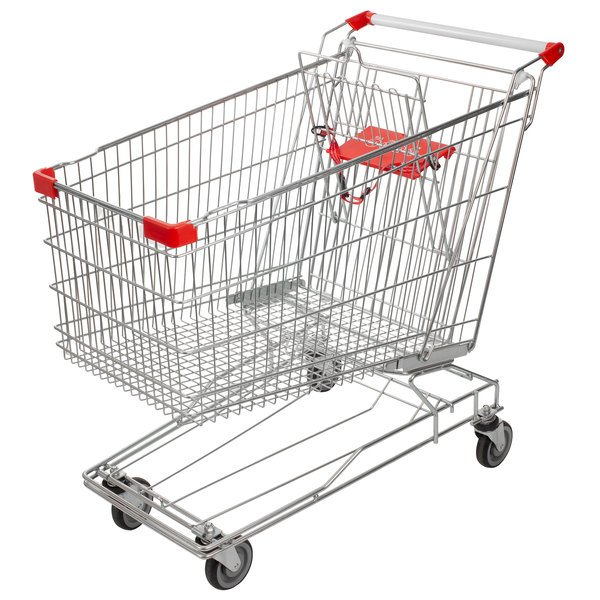 Regency Supermarket Grocery Cart 8.5 Cu. Ft.