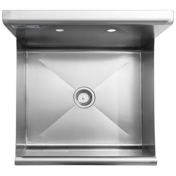 Regency 18 Gauge 304 Stainless Steel Standing Mop Sink