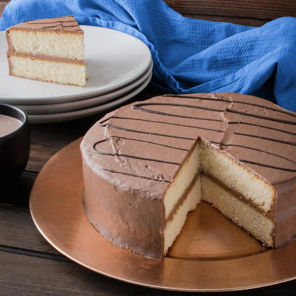 "Pellman 9"" Yellow Chocolate Mousse Cake - 4/Case Main Image 3"