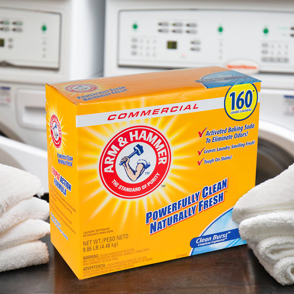 Arm & Hammer 9.86 lb. Clean Burst HE Powder Laundry Detergent - 3/Case