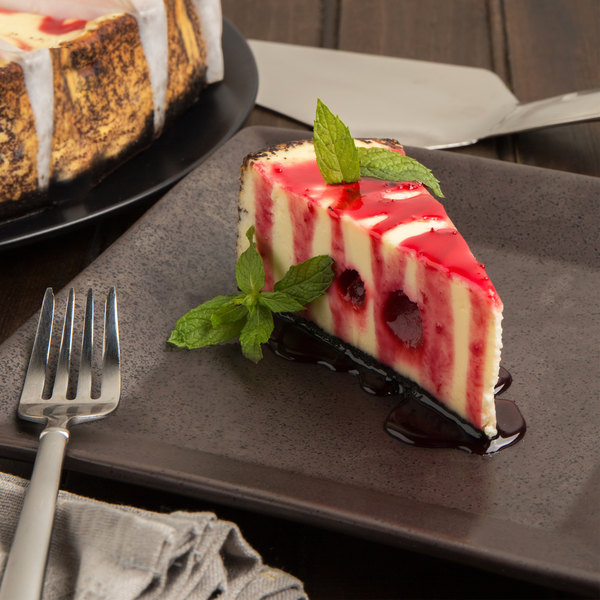 "Pellman 60 oz. 9"" Pre-Cut Strawberry Swirl Cheesecake Main Image 3"