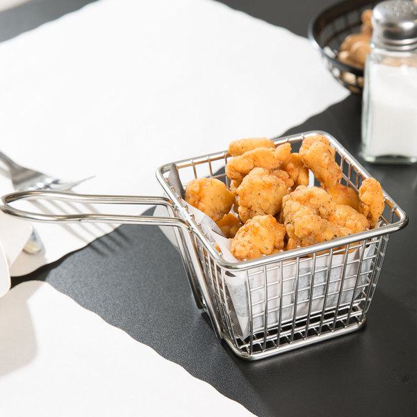 """4"""" Square Stainless Steel Mini Fry Basket"""