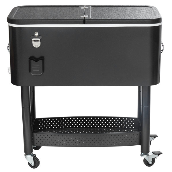 Your Beverages Will Always Be Ready For Service No Matter Where The Location Thanks To This Choice 65 Qt Cooler Cart Designed Use With Ice Chilling