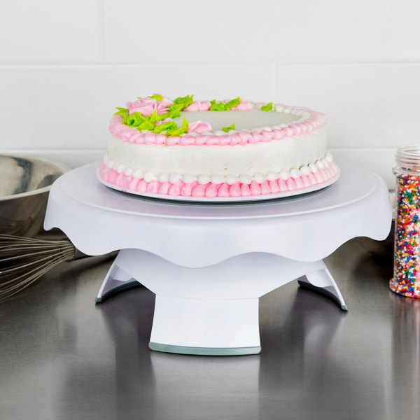 Wilton 307 0838 12 3 4 High And Low Revolving Plastic Cake Stand