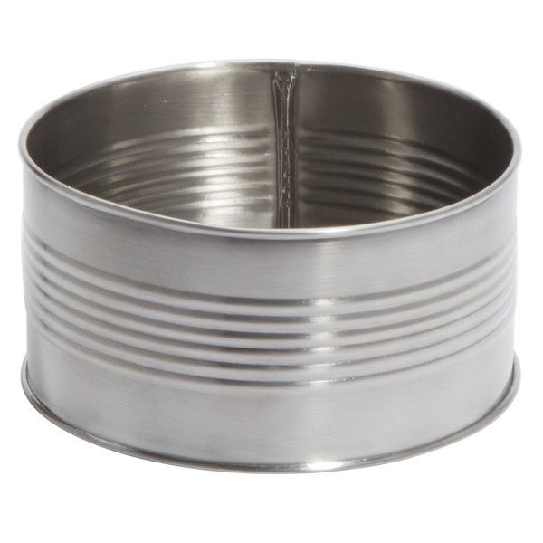 American Metalcraft CSM40 40 oz. Silver Stainless Steel Soup Can / Riser