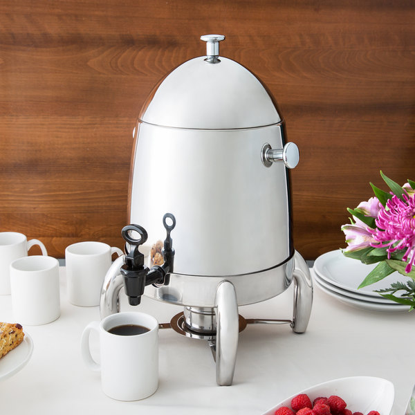 Choice Heavy Weight Stainless Steel 48 Cup Coffee Chafer Urn - 3 Gallon Main Image 3