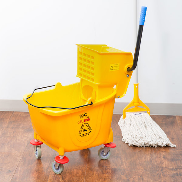 bucket with wringer lavex 36 quart mop bucket wringer combo