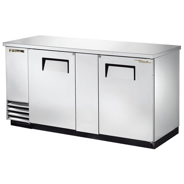 "True TBB-3-S 69"" Stainless Steel Back Bar Refrigerator"