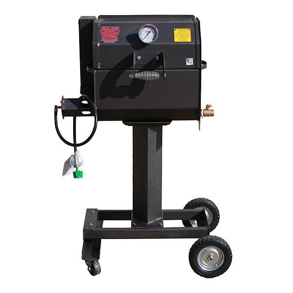R & V Works SCGJrW Cajun Smokin' Junior Liquid Propane Gas Grill with Wheeled Stand - 90,000 BTU Main Image 1