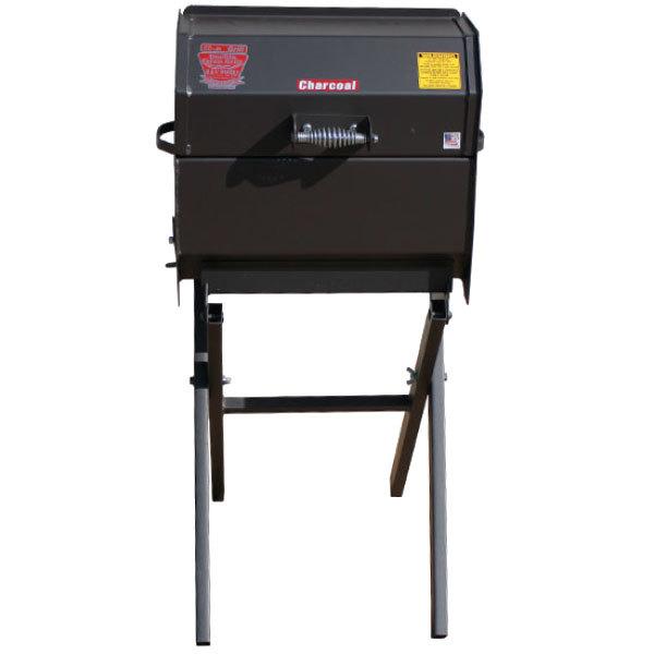 R & V Works SCGJrCS Cajun Smokin' Junior Charcoal Grill with Folding Stand