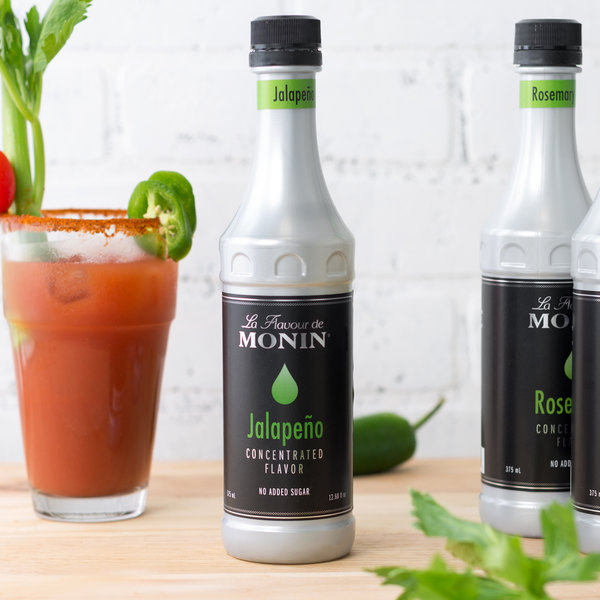 Monin 375 mL Jalapeno Concentrated Flavor Main Image 2