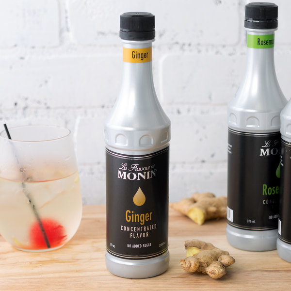 Monin 375 mL Ginger Concentrated Flavor Main Image 2