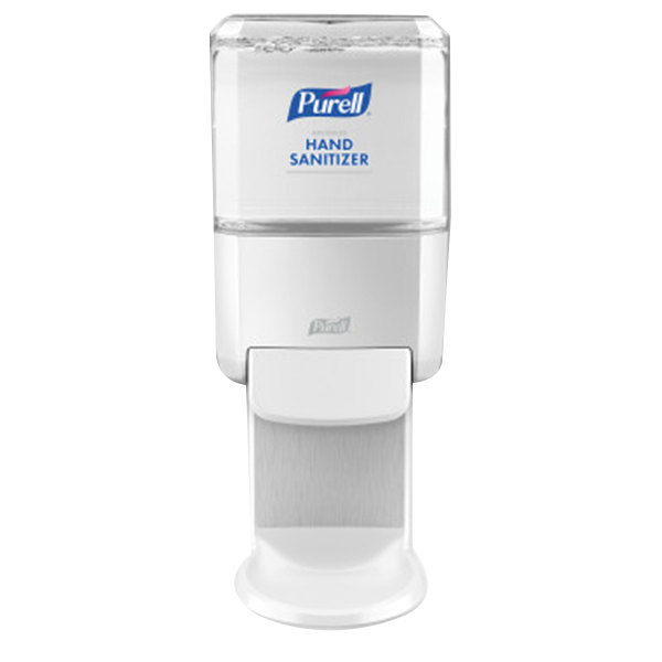 Purell 5020-01 Healthy Soap ES4 1200 mL White Manual Hand Sanitizer Dispenser with Wall / Floor Shield Main Image 1