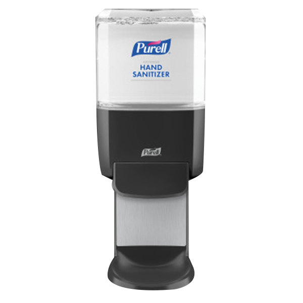 Purell 5024-01 ES4 1200 mL Graphite Gray Manual Hand Sanitizer Dispenser with Wall / Floor Shield