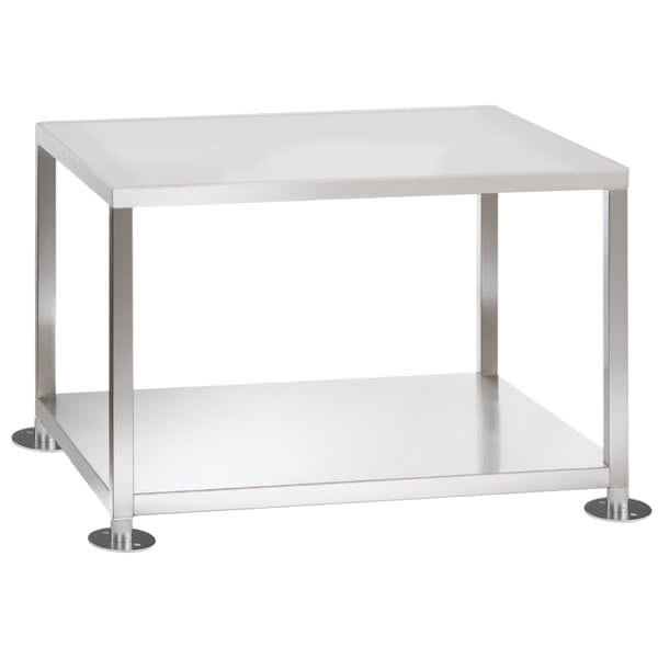 "Alto-Shaam 5014737 Stainless Steel Equipment Stand with Undershelf - 31 5/8"" x 22 5/16"" x 15 1/4"" Main Image 1"