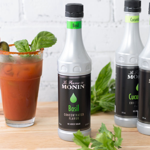 Monin 375 mL Basil Concentrated Flavor Main Image 2