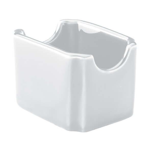 Hall China 7160ABWA Bright White Sugar Packet Holder / Caddy - 24/Case