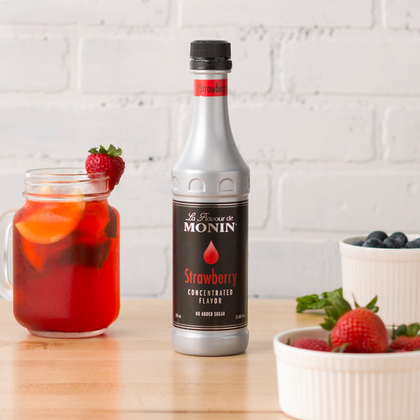 Monin 375 mL Strawberry Concentrated Flavor