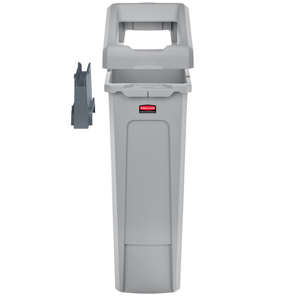 Rubbermaid 2007913 Slim Jim 1 Stream Recycling Station Kit With
