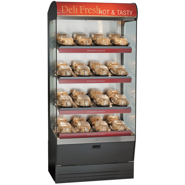 """Alto-Shaam HSM-36/4S 36"""" Reach-In Heated Display Case with 4 Shelves - 208/240V Main Image 1"""