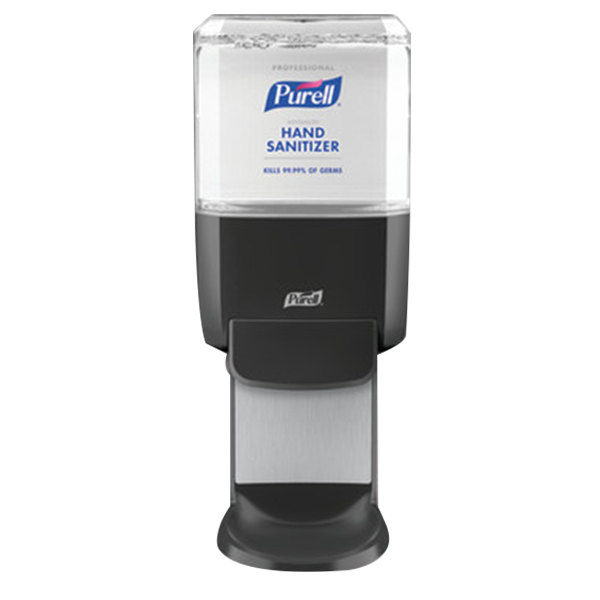 Purell 5054-1G Professional Advanced ES4 1200 mL Graphite Gray Manual Hand Sanitizer Starter Kit