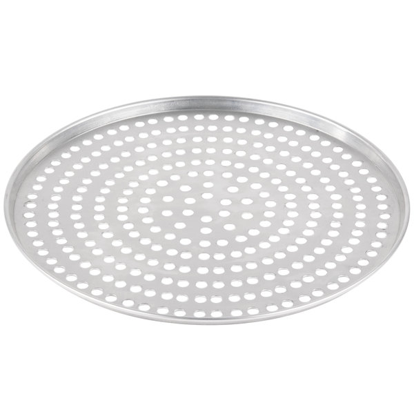 """American Metalcraft SPA2014 14"""" x 1/2"""" Super Perforated Standard Weight Aluminum Tapered / Nesting Pizza Pan Main Image 1"""