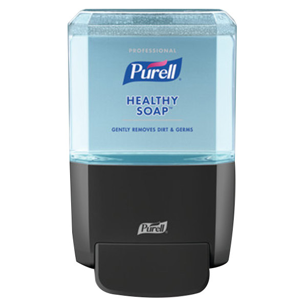 Purell 5077-1G Healthy Soap® ES4 1200 mL Black Manual Hand Soap Dispenser with Professional Fresh Scent 1200 mL Refill