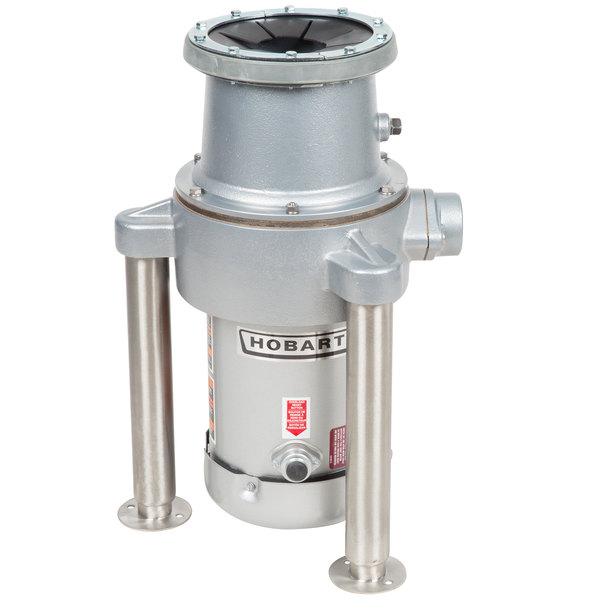 Hobart FD4/300-1 Commercial Garbage Disposer with Adjustable Flanged Feet - 3 hp, 208-230/460V Main Image 1