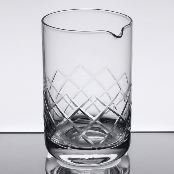 American Metalcraft MGD20 20 oz. Diamond Cut Cocktail Stirring / Mixing Glass Main Image 1