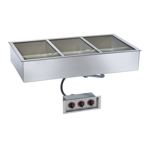 "Alto-Shaam 300-HWI/D443 4/3 Size 3 Pan Drop-In Hot Food Well for 4"" Deep Pans - 120V Main Image 1"