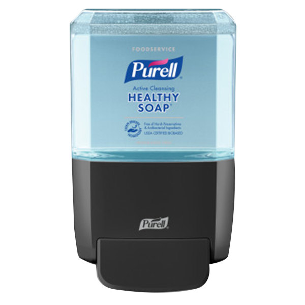 Purell 5084-1G Healthy Soap® ES4 1200 mL Black Manual Hand Soap Dispenser with Foodservice Fragrance Free 1200 mL Refill