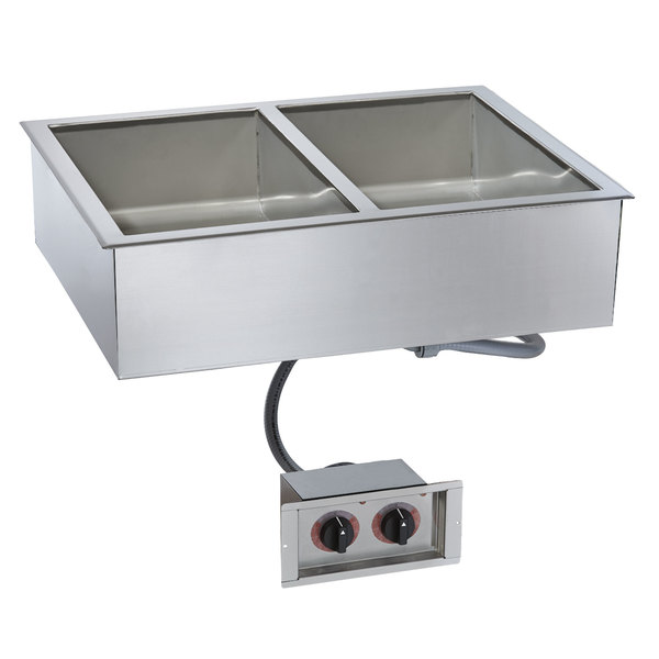 """Alto-Shaam 200-HWI/D443 4/3 Size 2 Pan Drop-In Hot Food Well for 4"""" Deep Pans - 120V Main Image 1"""